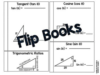 Trigonometric Functions: Interactive Notebook Pages