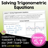PreCalculus: Solving Trigonometric Equations