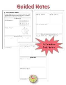 PreCalculus: Solving Trigonometric Equations