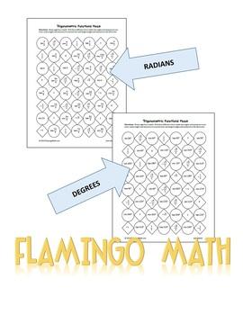 PreCalculus Trigonometric Functions Maze Activity (FREEBIE)