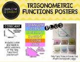 Trigonometric Functions Posters PLUS interactive math notebook activity
