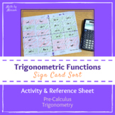 Trigonometric Functions Sign Card Sort Activity