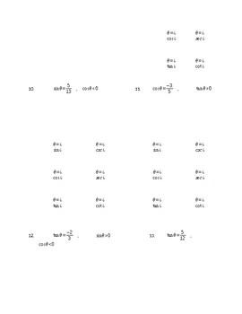 Trigonometric Functions at Any Angle