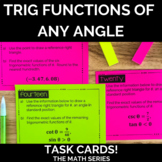Trigonometric Functions of Any Angle Task Cards