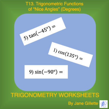 "Trigonometric Functions of ""Nice"" Angles (Degrees)"