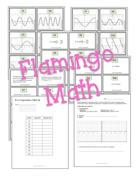 Trigonometric Graphs Match-Up Activity (PreCalculus - Unit 4)
