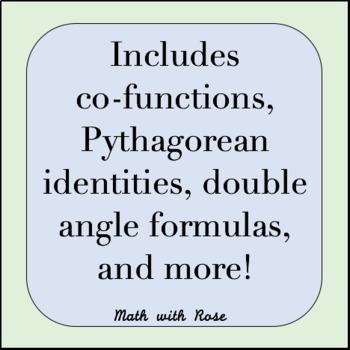 Trigonometric Identities Handout