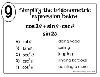 Trigonometric Identities Math Lib