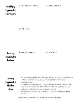Trigonometric Identities Notes