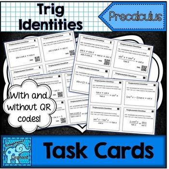 Trig Identities Task Cards