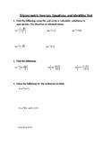 Trigonometric Inverses, Equations, and Identities Test