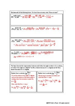 Trigonometric Limits