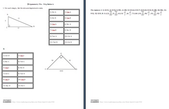 Combo: Trigonometric Ratios