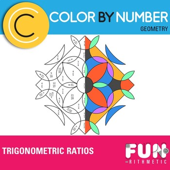 Trigonometric Ratios Color by Number