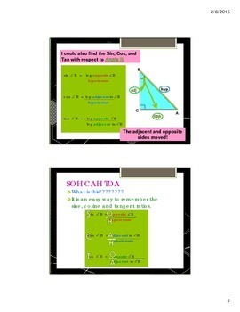 Trigonometric Ratios - Intro to Trigonometry - PowerPoint Presentation