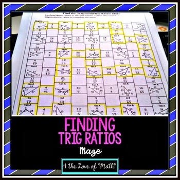 Trigonometric Ratios Right Triangles Maze