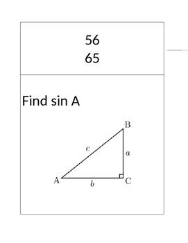 Trigonometric Ratios Scavenger Hunt (SohCahToa)