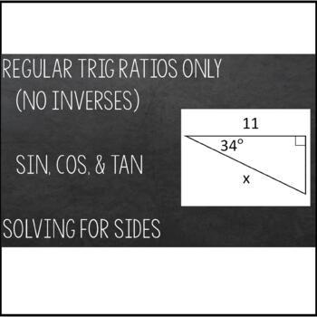 Trigonometric Ratios (Sine, Cosine & Tangent ) Maze - Solving for Sides