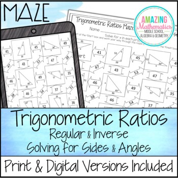 Trigonometry Worksheets Resources & Lesson Plans | Teachers Pay Teachers