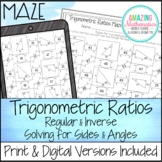 Trigonometric Ratios (Sine, Cosine & Tangent) Worksheet - Maze Activity