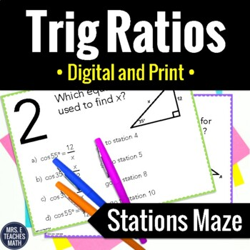 Trig Ratios Activity Teaching Resources Teachers Pay Teachers