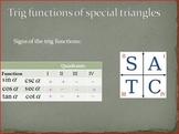 Trigonometric Ratios of Special Triangles (PP)