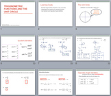Trigonometric Ratios on the Unit Circle Unit BUNDLE(PowerPoints & Student Notes)
