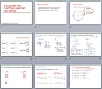 Trigonometric Ratios on the Unit Circle & Solving Triangle