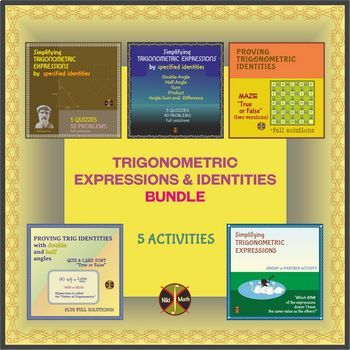 Trigonometric Expressions and Identities Activities BUNDLE