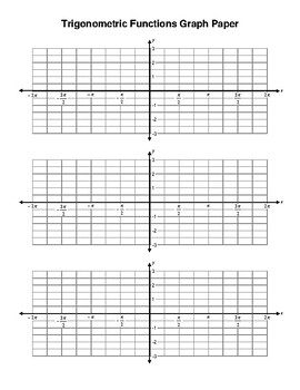 Trigonometric functions graph paper
