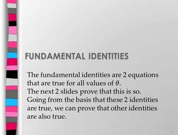 Trigonometrical identities