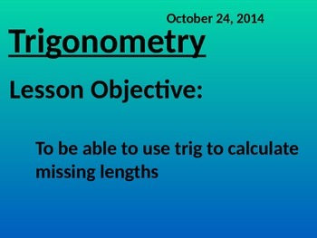 Trigonometry in right angle triangles 2D and 3D - Common Core Math 2