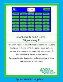Algebra II Smartboard Q and A Game - Trigonometry 2