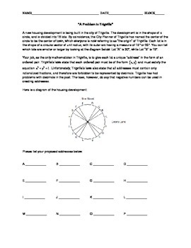 "Trigonometry Activity - ""A Problem in Trigville"""
