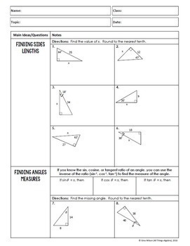 Trigonometry (Algebra 2 Curriculum - Unit 12) by All ...