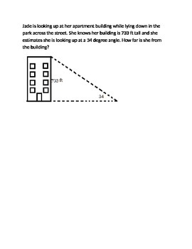 Trigonometry Angle of Elevation Practice Problems