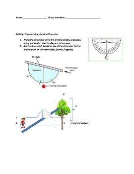 Trigonometry Application: Clinometer Activity