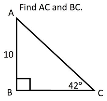 Trigonometry BINGO (Pythagorean Theorem, SOH-CAH-TOA, Sine and Cosine Rule)