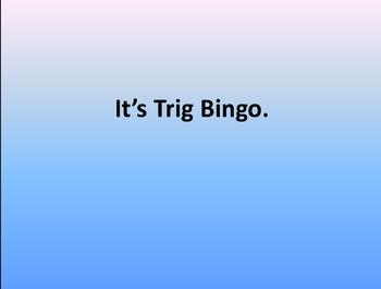 Trigonometry Bingo