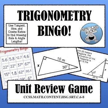 TRIGONOMETRY BINGO! UNIT REVIEW GAME