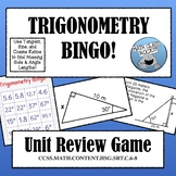 TRIGONOMETRY BINGO! UNIT REVIEW GAME