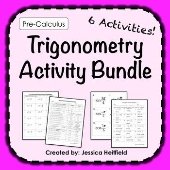 Trigonometry Activities Bundle: Pre-Calculus