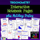 Trigonometry Graphic Organizers for Interactive Notebooks  plus Posters