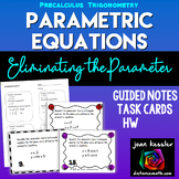 Parametric Equations Task Cards  Guided  Notes  HW