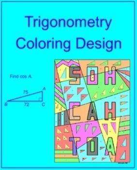 TRIGONOMETRY: FIND TRIG RATIOS - COLORING ACTIVITY (EASY/HARDER)
