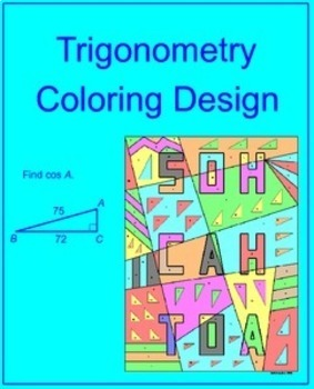 It is a photo of Monster congruent triangles coloring activity