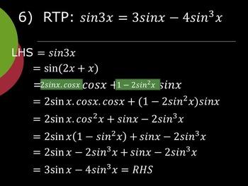 Trigonometry - Compound Angles