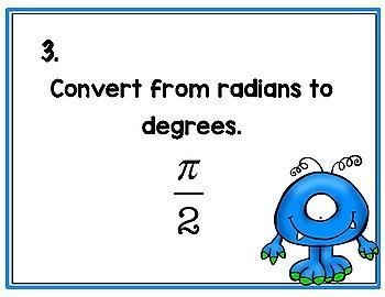 Trigonometry Converting Angle Measures - Bingo