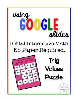 Trigonometry Digital Interactive Math Trig Practice w/ Special Values Puzzle