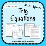 Trig Equations Activity: Math Sprints